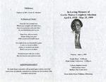 Funeral Programs-Book 1 (A-D)