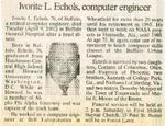 Newspaper Obituaries; Book 1 (E-H)