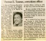 Newspaper Obituaries; Book 1 (T-Z)