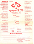 Ad and Registration Form for AIDS Walk '94 by AIDS Community Services of Western New York