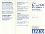 Pamphlet for the 2nd Annual Living Well Conference by The Living Well Commission
