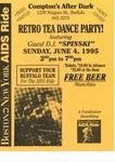 Retro Tea Dance Party Flyer
