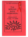 Program From the 1999 Spring AIDS Memorial by The AIDS Coalition of SBI