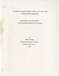 The Buffalo Cooperative Economic Society, Inc., 1928-1961; A Black Self-Help Organization: A Brief History and Introduction; 1975