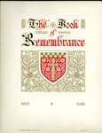 Book of Rememberance; 1904- by Bethany Evangelical Lutheran Church