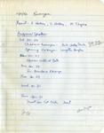 Committee Meetings; 1993