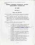 By-Laws; 1998 by Buffalo Quarters Historical Society