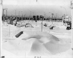 Buried cars near the 198 by The Buffalo Courier-Express Newspaper