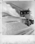 Snow plow clearing the streets by The Buffalo Courier-Express Newspaper