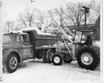 Military and private contractors removing snow by The Buffalo Courier-Express Newspaper