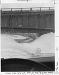 Interior view of driving under N. Grand Island Bridge by The Buffalo Courier-Express Newspaper