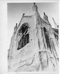 Snow covered church by The Buffalo Courier-Express Newspaper