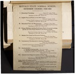 College Catalog, 1920-1921, Extension by Buffalo State College