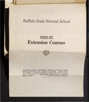 College Catalog, 1922-1923, Extension by Buffalo State College