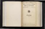 College Catalog, 1933-1934