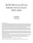 College Catalog, 2015-2016, Graduate