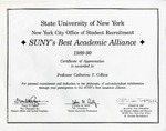 Awards; 1989-01-01; SUNY Best Academic Alliance
