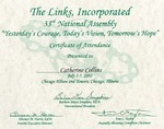 Awards; 2002-07-02; Links, Inc. by Catherine Collins