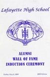 Awards; 2009-05-08; Lafayette High School Alumni Wall of Fame