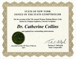 Awards; 2018-03-18; Women Making History; State Comptroller by Catherine Collins