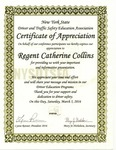 Awards; 2016-03-05; NYS Driver and Traffic Safety Education Assn. by Catherine Collins
