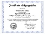 Awards; 2016-04-30; Sojourner Truth Award (1) by Catherine Collins
