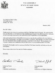Correspondence; 2009-03-06; NYS Board of Regents by Catherine Collins