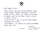 Correspondence; n.d; Glasgow Caledonian University; Cara Symth