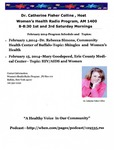 Events & Outreach; 2014-02-01; Women's Health Radio Program by Catherine Collins