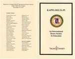 Events & Outreach; 2017-11-16; Kappa Delta Phi Inductee Program by Catherine Collins