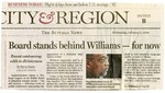 Newspapers; 2008-02-06; Buffalo News; Board Stands Behind Williams For Now