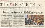 Newspapers; 2008-02-14; Buffalo News; Board Limits Scope of McKinley Probe