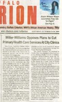 Newspapers; 2009-10-24; Criterion; Miller-Williams Opposes Plans to Cut Primary Health Care by Catherine Collins