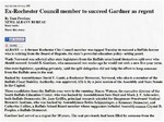 Newspapers; 2009-03-11; News Albany Bureau; Ex-Rochester Council Member to Succeed Gardner as Regent by Catherine Collins
