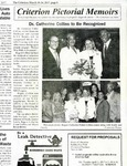 Newspapers; 2017-03-18; Criterion; Dr. Catherine Collins to Be Recognized