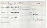 Allen, Ms. Kate Taylor by Delaware Avenue Baptist Church