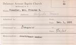 Chandler, Mrs. Frances by Delaware Avenue Baptist Church