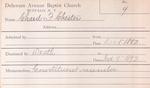 Chard, Mr. Chester by Delaware Avenue Baptist Church