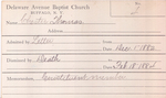 Chester, Mr. Thomas by Delaware Avenue Baptist Church