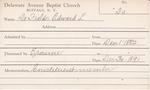 De, Mr. Edward L by Delaware Avenue Baptist Church