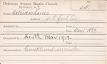 Deliners, Mr. Louis by Delaware Avenue Baptist Church