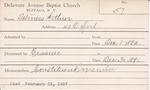 Deliners, Mr. Arthur by Delaware Avenue Baptist Church