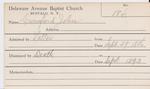 Crawford, Mr. John by Delaware Avenue Baptist Church