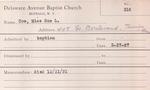 Coe, Miss. Sue by Delaware Avenue Baptist Church