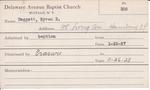 Daggert, Mr. Byron B by Delaware Avenue Baptist Church