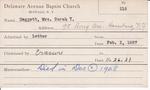 Daggert, Mrs. Sarah by Delaware Avenue Baptist Church