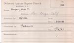 Cooper, Mr. John T by Delaware Avenue Baptist Church