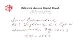 Carmichael, Mr. Ivan by Delaware Avenue Baptist Church
