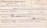 Davis, Mrs. L W by Delaware Avenue Baptist Church