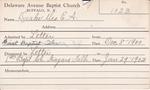 Drake, Mrs. E A by Delaware Avenue Baptist Church